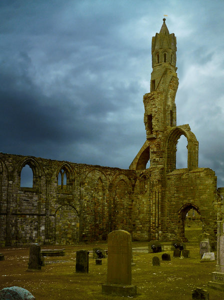 Graveyard 1: Graveyard in St Andrews Cathedral, Scotland