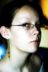 Smart: My sis adopting a different sort of pose.