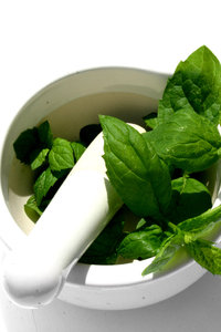 Mortar & Mint 2: Pestle and mortar with a touch of mint :)