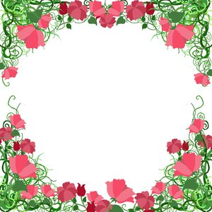 Vine Frame 2: visit my site ozaidesigns.com for more of my free illustrations!A vine frame with flowers. **If you download this for online use, PLEASE send me a link :)