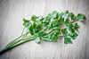 Parsley: Photo of sprigs of Italian parsley