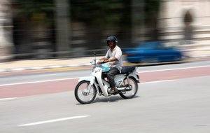 Motorcycle riders 1: Snapshots of people riding on motorcycles