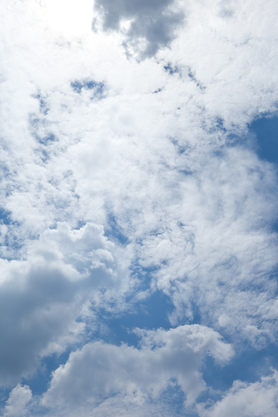 Blue & Cloudy Skies 2: Photo of blue and cloudy skies