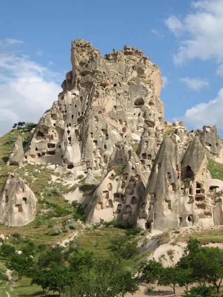 Uchisar: The Citadel of Uchisar in Cappadocia, central Turkey