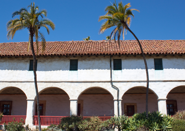 Mission building: The old mission in San Diego.