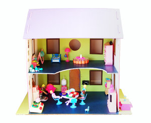 Doll house: a little family lives here