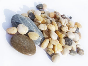 Stones: assorted pebbles and stones