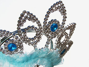 Princess headwear 1: Tiara, this one is a toy plastic one, ideal for dressing up and pretend for budding princesses