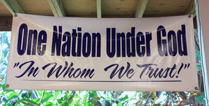 One Nation: sign