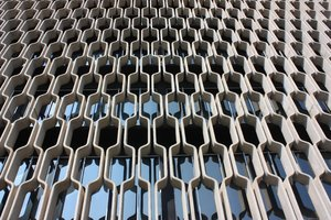 geometric window pattern: the geometric shapes of the building architecture in Hawaii