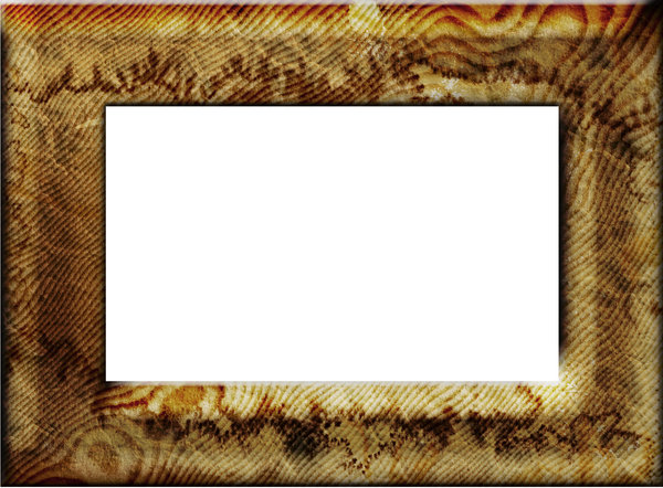 Stained wooden frame: Stained wooden frame