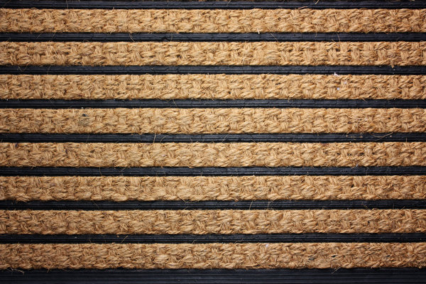 Striped doormat: A rubber & coir woven doormat with striped effect