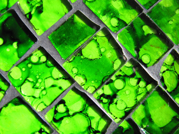 green glass mosaic 1: