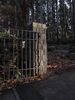 Metal gate: A gate to the state park botanic garden