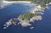 Vancouver Island from the air: Aerial shot of the west coast of Vancouver Island, Canada.