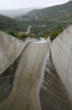 Watercourse: A dam overflow watercourse in southern Spain.