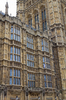 London Parliament: Part of the facade of the Houses of Parliament, Westminster, London, England.