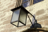 Church lantern: A lantern above the doorway of an old church in West Sussex, England.