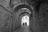Jerusalem alley B/W: An alley in the Armenian Quarter of the Old City of Jerusalem, Israel.