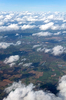 England from the air: Southern England in October.