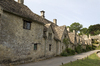 Old rural cottages: Old waterside cottages in Wiltshire, England.