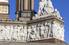 Albert Memorial - statues: A statue-series depicting notable personages from the arts on the Albert Memorial in Kensington Gardens, London, England. Photography of this monument is freely permitted.
