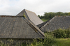 Farm roofs: Roofs of farm buildings on the South Downs, West Sussex, England.