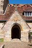 Old Sussex church entrance: Entrance to an old parish church in the Sussex Weald, England.