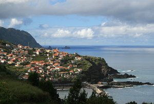 Coastal village: A village on the north coast of Madeira.
