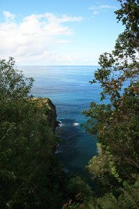 Coastal view: View of the northern coastline of Madeira.