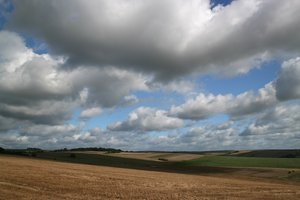 Downland sky: Sussex downland in early autumn.