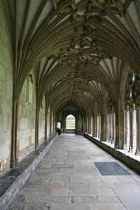 Canterbury cathedral: Cloisters in Canterbury cathedral, Kent, England.