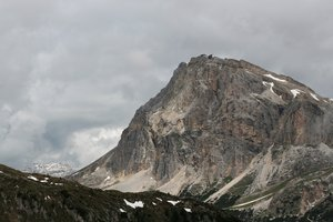 Austere mountains: Mountains in early summer in the Dolomites, Italy.