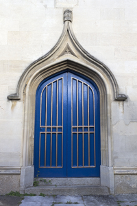 Blue church door: A blue door to a church in Berkshire, England.
