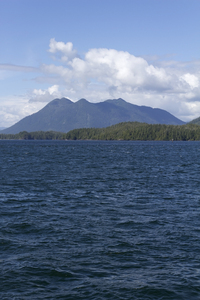 Approaching islands: Islands off the coast of Vancouver Island, Canada.