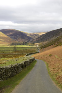 North England landscape: Landscape of Cumbria, northern England, in early spring.