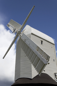 Windmill: A windmill on the South Downs, East Sussex, England.