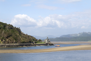 Estuary: View of the Mawddach Estuary, Wales.