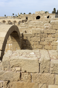 Ancient ruins: Ruins of Caesarea Maritima, Israel, built by Herod the Great about 25–13 BC. Photography at this site was freely permitted.