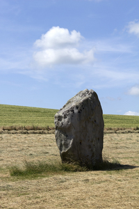 Neolithic stone: Neolithic stone of the West Kennet Avenue near Avebury, Wiltshire, England, thought to have been constructed c. 2400BC.