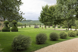 Topiary park: Topiary parkland in the Dordogne, France.