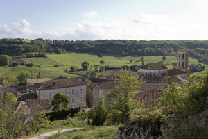 French village: A village in the Lot region of France.