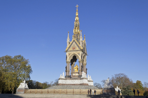Albert Memorial: The Albert Memorial in Kensington Gardens, London, England. Photography of this monument is freely permitted.