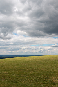 Landscape with summer storm: Landscape and storm clouds of the South Downs, Sussex, England, in summer.