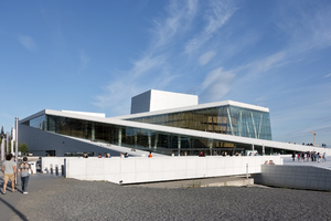 Modern architecture: The new Opera House in Oslo, Norway. Photography at this site was freely permitted.