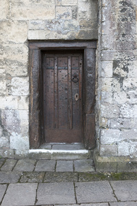 Ancient door: An ancient door in Hampshire, England.