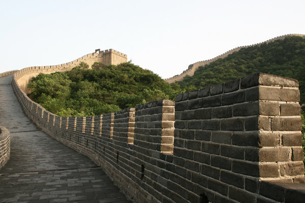 Great Wall of China: A shot of the Great Wall in early evening, when there aren't many tourists around.