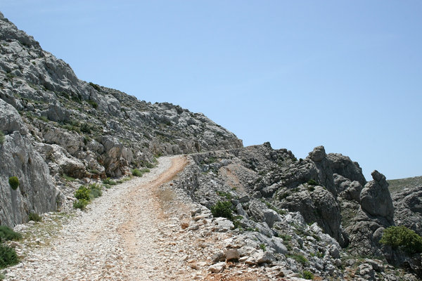 Rocky trail: A high trail in the mountains of Sardinia.