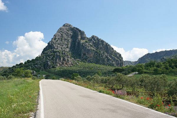 Mountain road: A rural road in Andalucia, Spain.