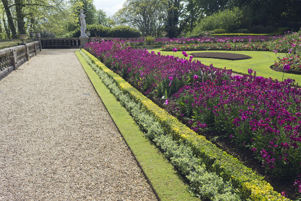 Formal garden: Part of a large formal garden in southern England.